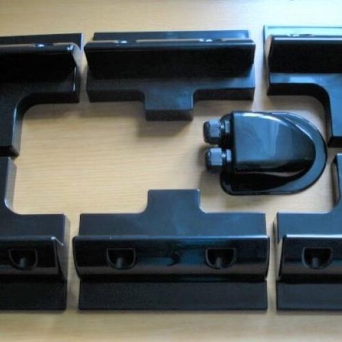 Solar Panel Mounting Brackets (Black Set)