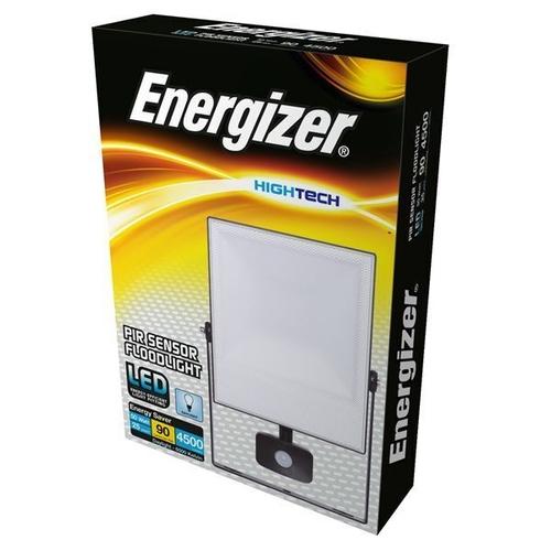 ENERGIZER PIR LED FLOODLIGHT - 50W - 4,500 LUMEN - 6,000K (DAYLIGHT) - S10934