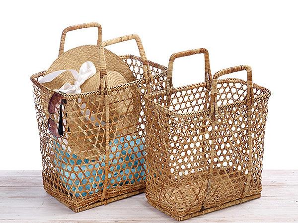 Rattan Sun Basket/ Beach Basket/Picnic Basket - Hand Woven in Burma