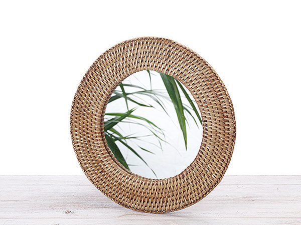Rattan  Round Mirror Small and  Large