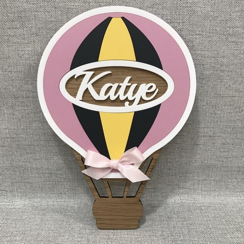 Hot Air Balloon door plaque