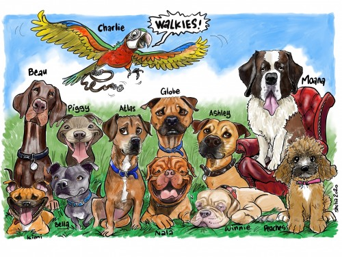 dogs and dogs and cats and rats and.. parrots