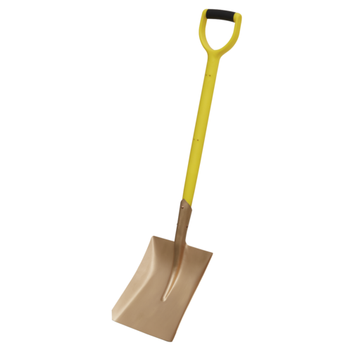 Square Shovel 240 x 418 x 990mm Non-Sparking - Sealey - NS106