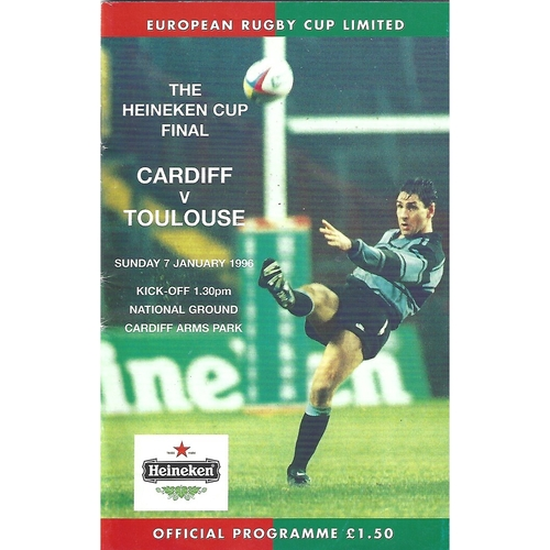1996 Cardiff v Toulouse European Cup Final Rugby Union Programme
