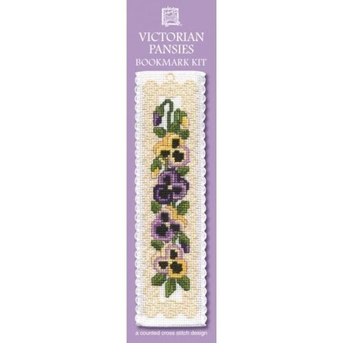 Bookmark - Victorian Pansies