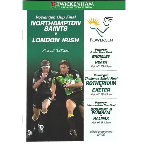 Powergen Cup Final Rugby Union Programmes