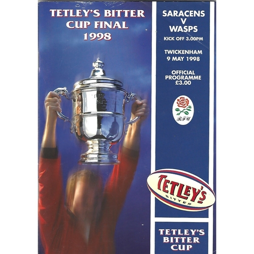 1998 Saracens v Wasps Tetley's Bitter Cup Final Rugby Union Programme
