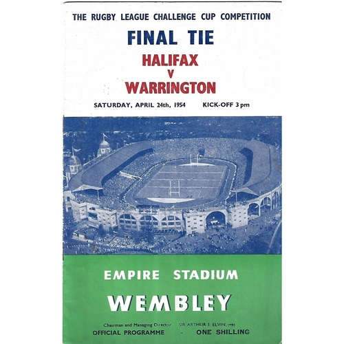 Challenge Cup Final Rugby League Programmes