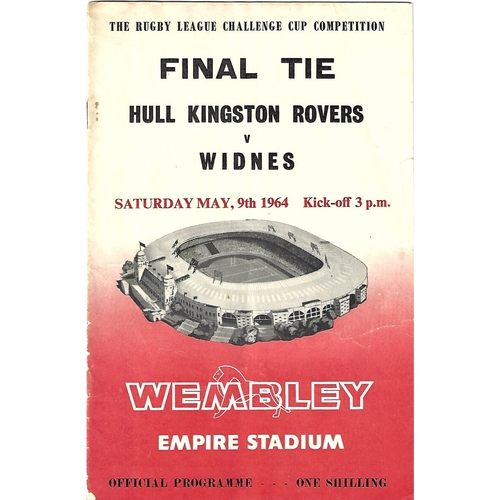 1964 Hull Kingston Rovers v Widnes Rugby League Challenge Cup Final Programme