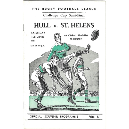 1961 Hull v St. Helens Rugby League Challenge Cup Semi Final Programme