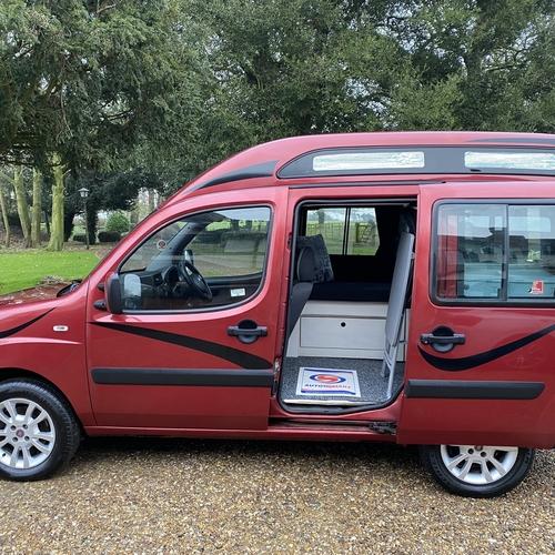 2007 (57)reg Fiat Doblo 1.9 M-Jet Micro Camper Van 2 Berth Red Metallic