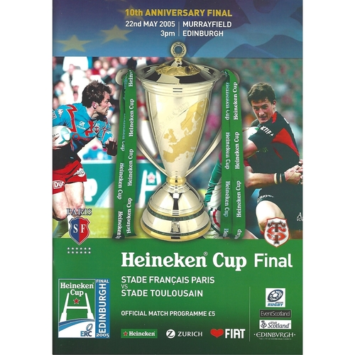 European Cup Final Rugby Union Programmes