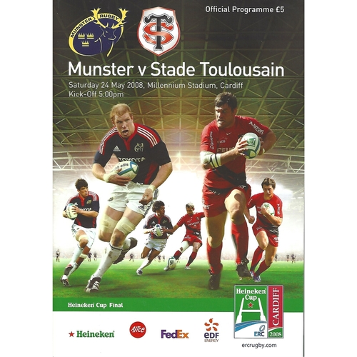 2008 Munster v Stade Toulousain European Cup Final Rugby Union Programme