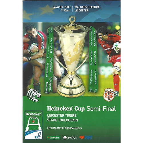 European Cup Semi Final Rugby Union Programmes