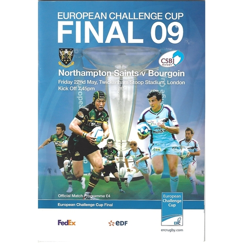 European Challenge Cup Final Rugby Union Programmes