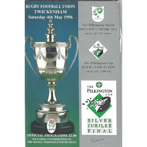 1996 Bath v Leicester Pilkington Cup Final Rugby Union Programme & Match Ticket