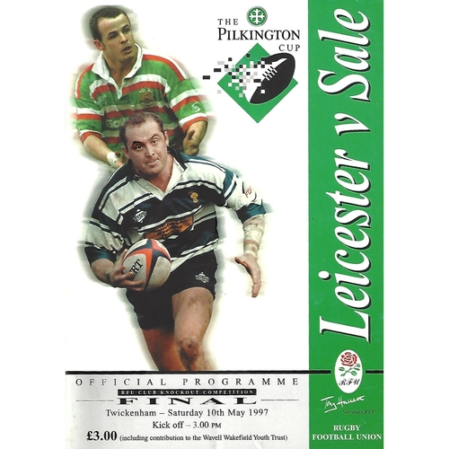 1997 Leicester v Sale Pilkington Cup Final Rugby Union Programme & Match Ticket