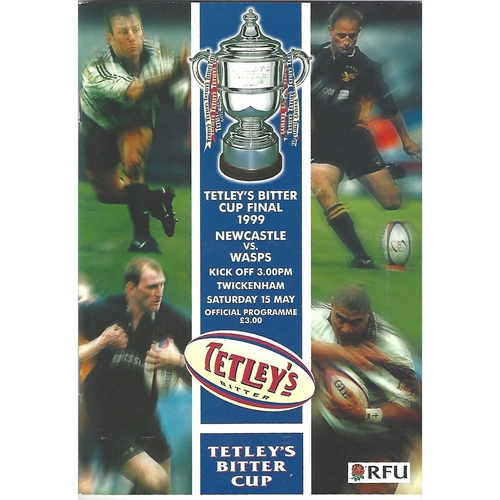 1999 Newcastle v Wasps Tetley's Bitter Cup Final Rugby Union Programme