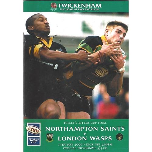 2000 Northampton Saints v London Wasps Tetley's Bitter Cup Final Rugby Union Programme