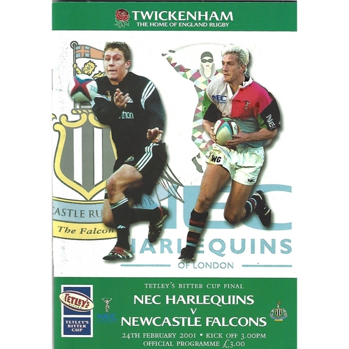 Tetley's Bitter Cup Final Rugby Union Programmes