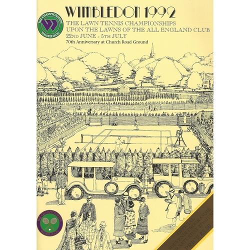 1992 (6th Day) Wimbledon Tennis Programme