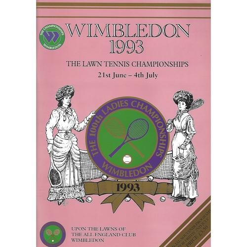 1993 (11th Day) Wimbledon Tennis Programme