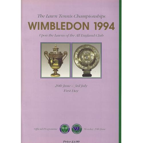 Wimbledon Tennis Programmes