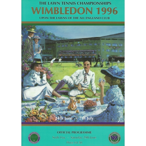 1996 (6th Day) Wimbledon Tennis Programme