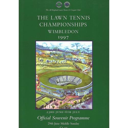 1997 (Middle Sunday) Wimbledon Tennis Programme + Insert