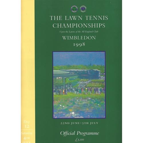 1998 (12th Day) Wimbledon Tennis Programme
