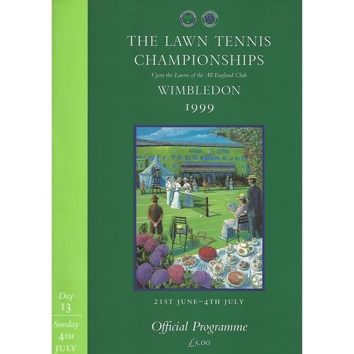 1999 (13th Day) Wimbledon Tennis Programme