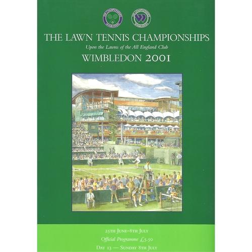 2001 (13th Day) Wimbledon Tennis Programme