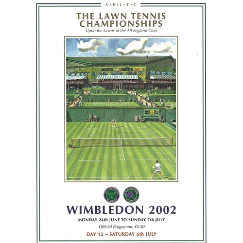 2002 (12th Day) Wimbledon Tennis Programme