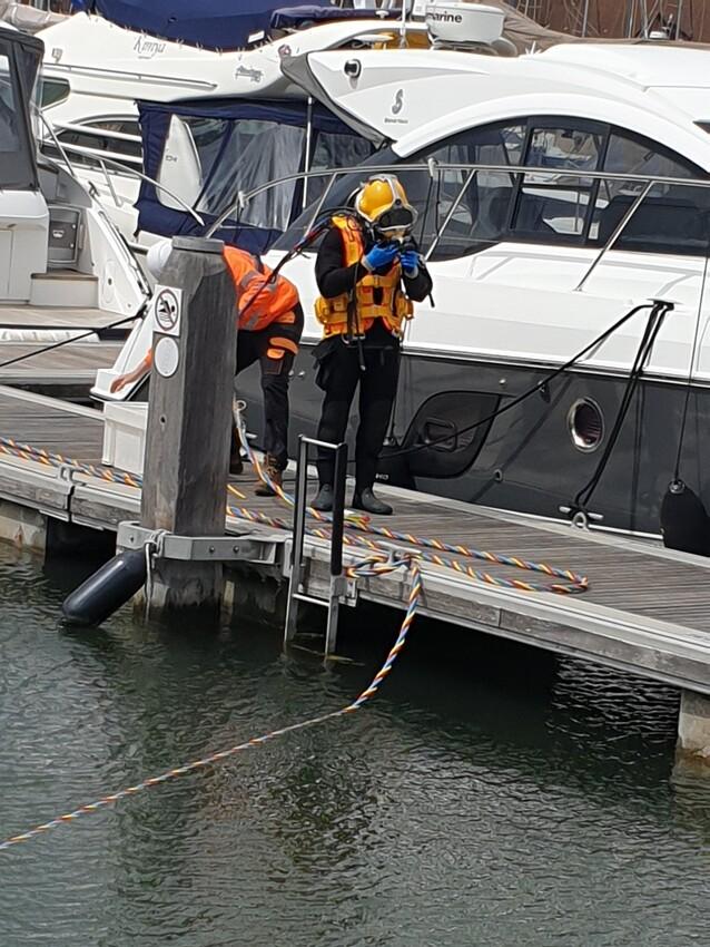 Car Salvage at Port Solent Marina