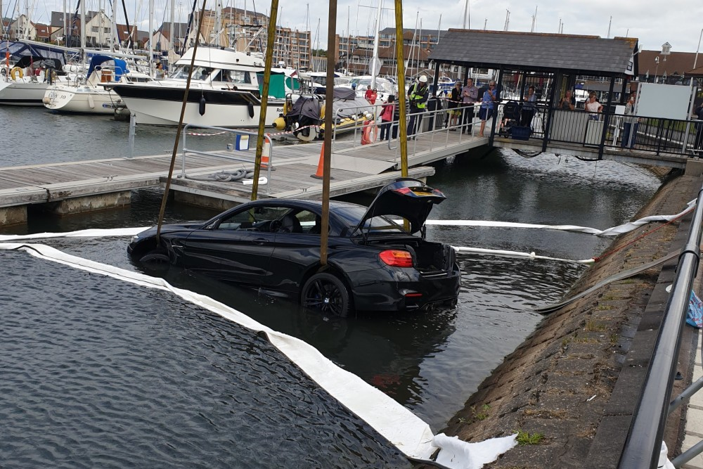 Car Salvage at Port Solent Marina