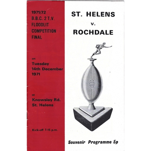 1971/72 St. Helens v Rochdale Hornets BBC2 Floodlight Rugby League Competition Final