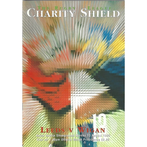 1995 Leeds v Wigan Charity Shield Rugby League Programme