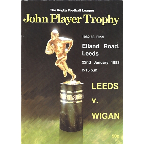1982/83 Leeds v Wigan John Player Trophy Final Rugby League Programme