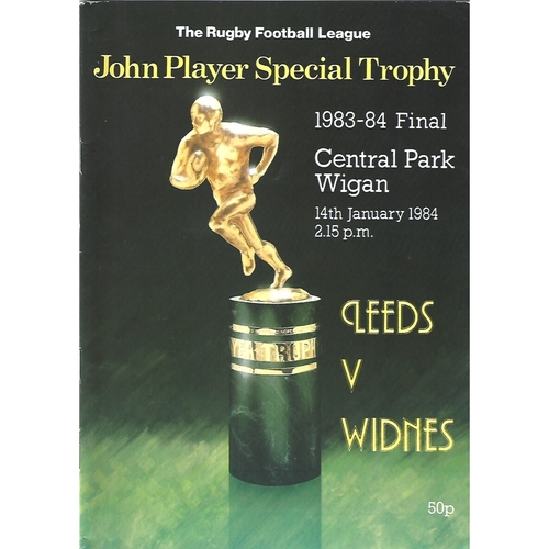1983/84 Leeds v Widnes John Player Special Trophy Final Rugby League Programme