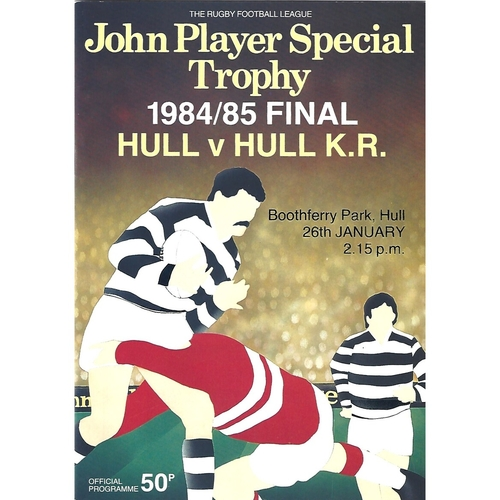 1984/85 Hull v Hull KIngston Rovers John Player Special Trophy Final Rugby League Programme