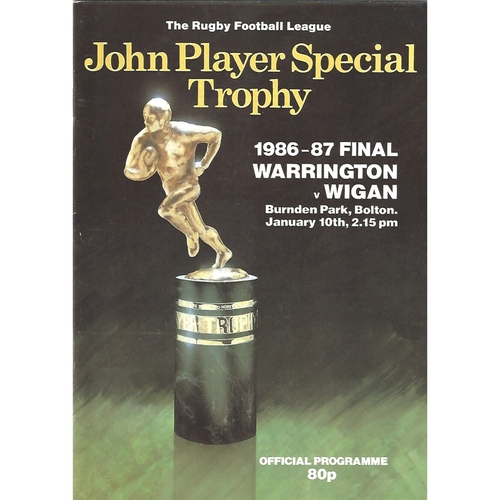 1986/87 Warrington v Wigan John Player Competition Final Rugby League Programme