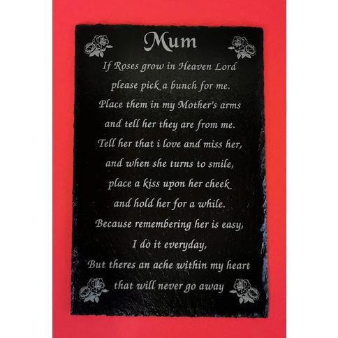 Beautiful Mum Poem Engraved On Slate