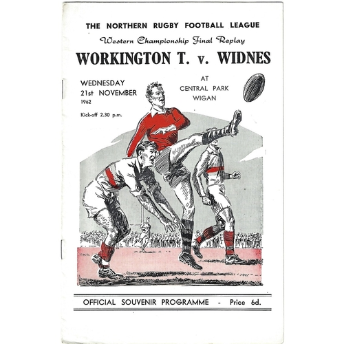 Western Championship Final Rugby League Programmes