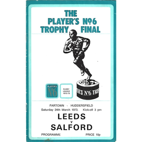1972/73 Leeds v Salford Players No. 6 Final Rugby League Programme
