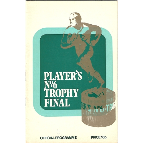 1974/75 Bradford Northern v Widnes Players No. 6 Final Rugby League Programme