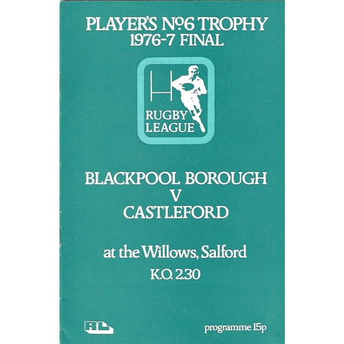 1976/77 Blackpool Borough v Castleford Players No. 6 Final Rugby League Programme