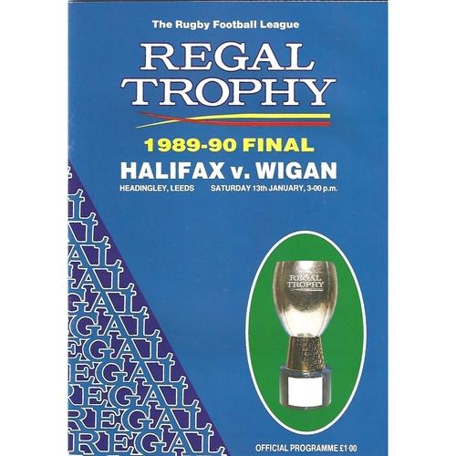 Regal Trophy Final Rugby League Programmes