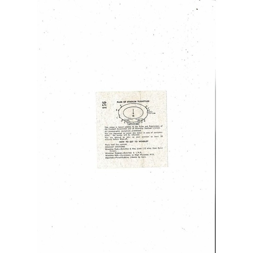 1966 World Cup 30th July Final Tie Match Ticket @ Wembley