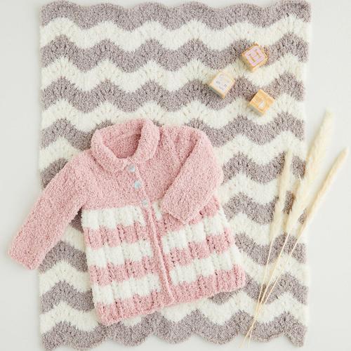 Snowflake Chunky Coat & Blanket Pattern 5402