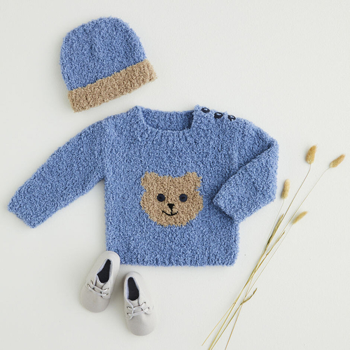 Snowflake Chunky Sweater & Hat Pattern 5401